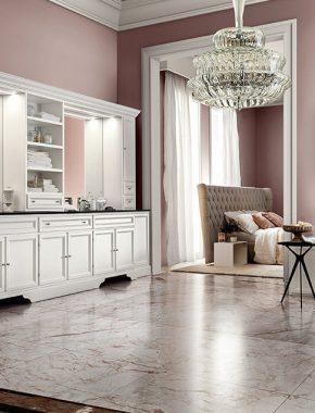 Paestum, arredamento da bagno romantico e classico