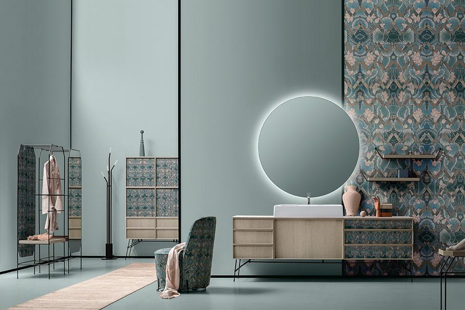Cerasa arredo bagno Icone Des specchio da 130 cm di diametro