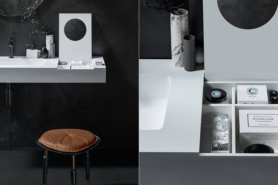 Cerasa, la sala da bagno è esclusiva, arredata con la linea Icone Free