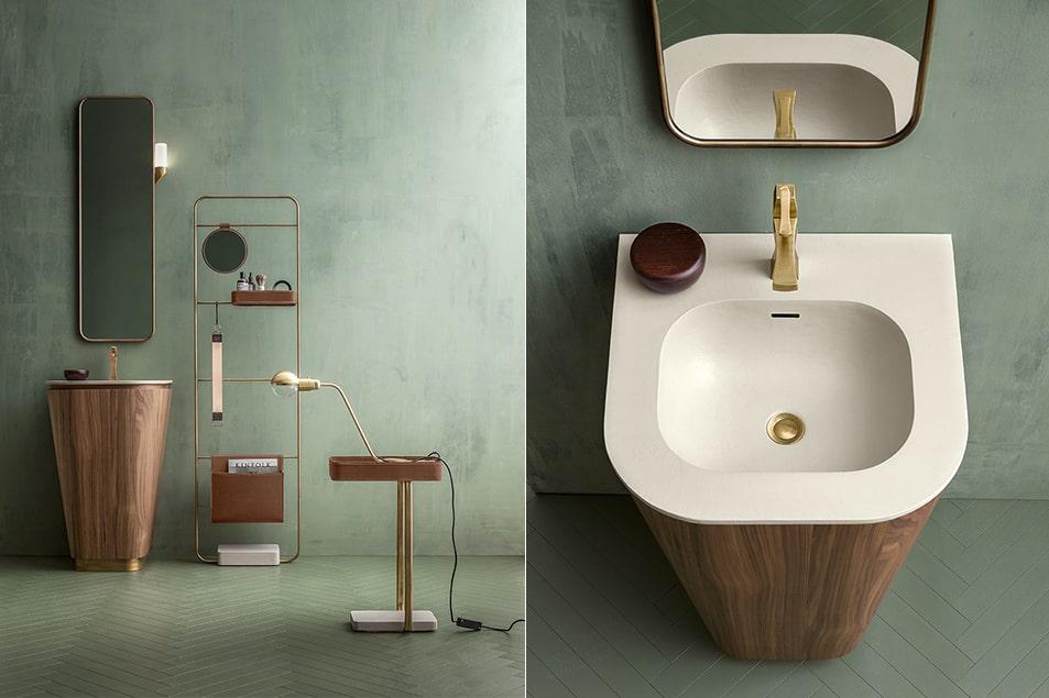 Arredo bagno Cerasa, Composizione Icone Suede
