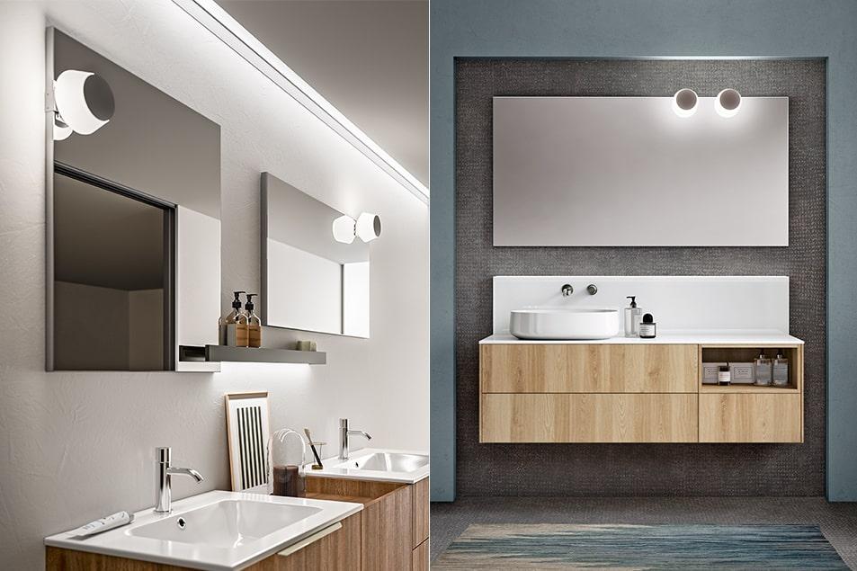 illuminazione specchio bagno