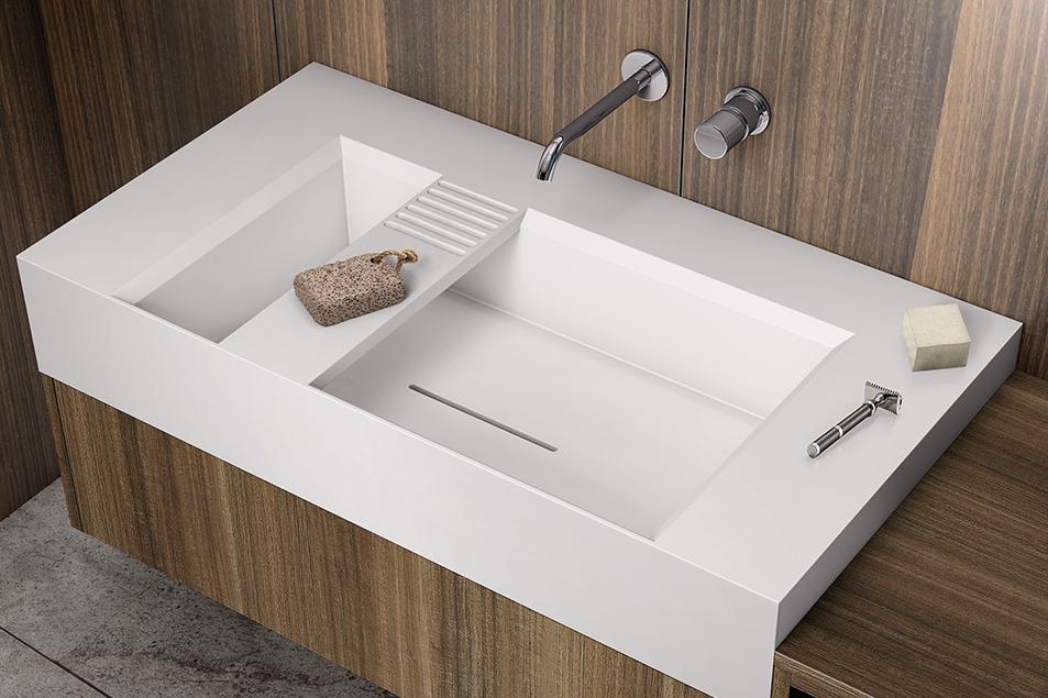 Lavabo da appoggio Monolite Basso dal design esclusivo Cerasa