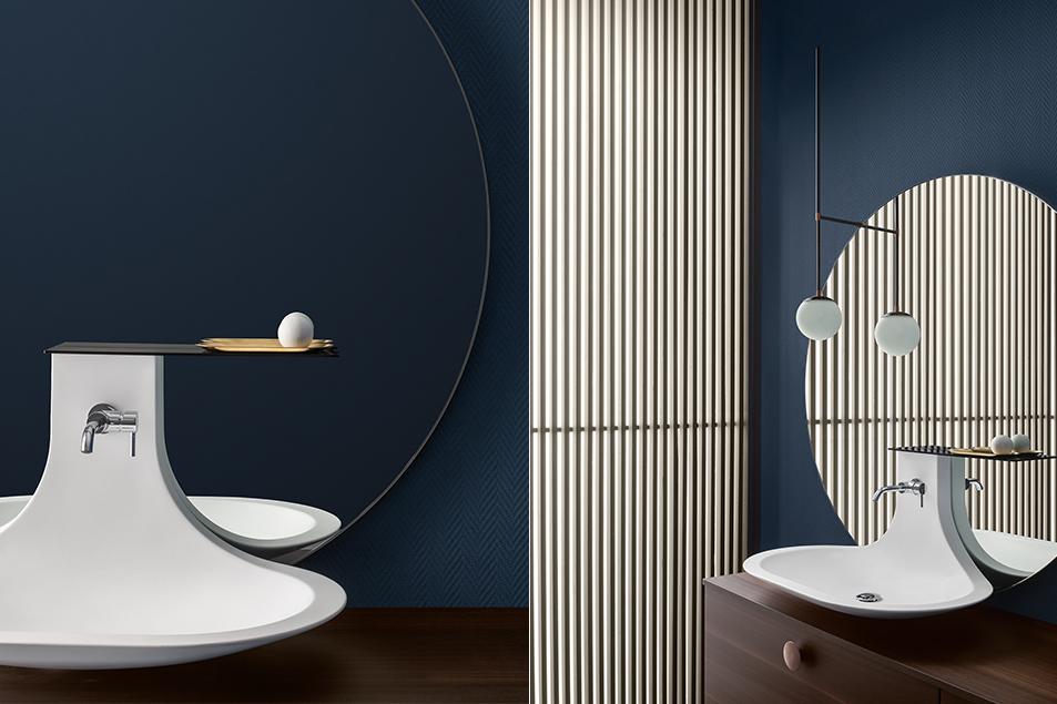 lavabo da appoggio Taki dal design esclusivo Cerasa