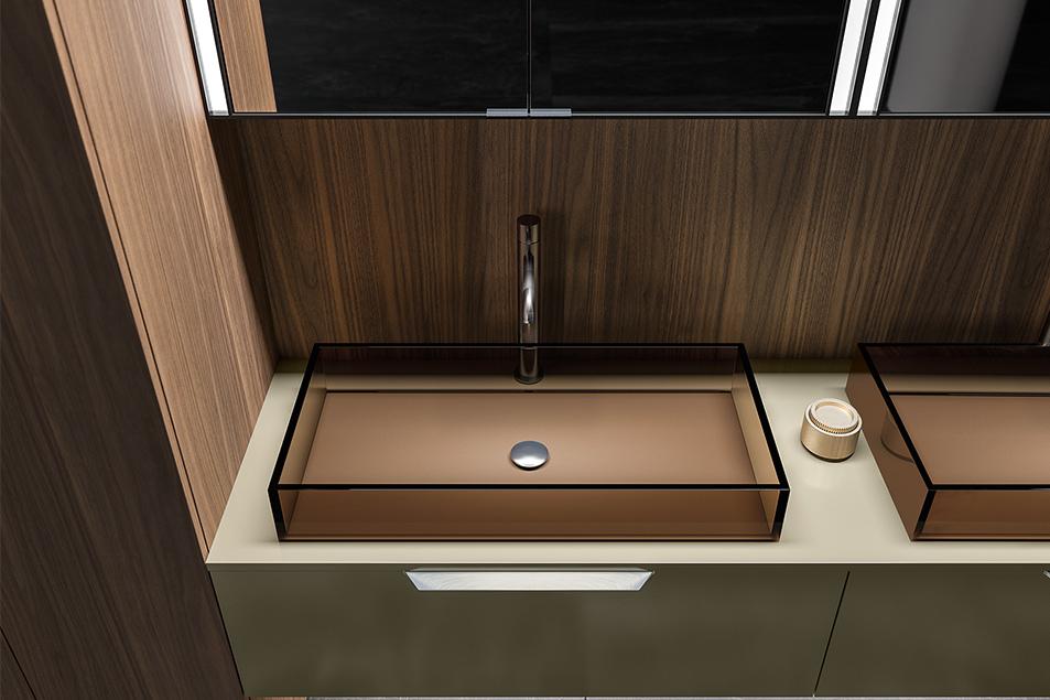Lavabo da appoggio H2O dal design esclusivo Cerasa