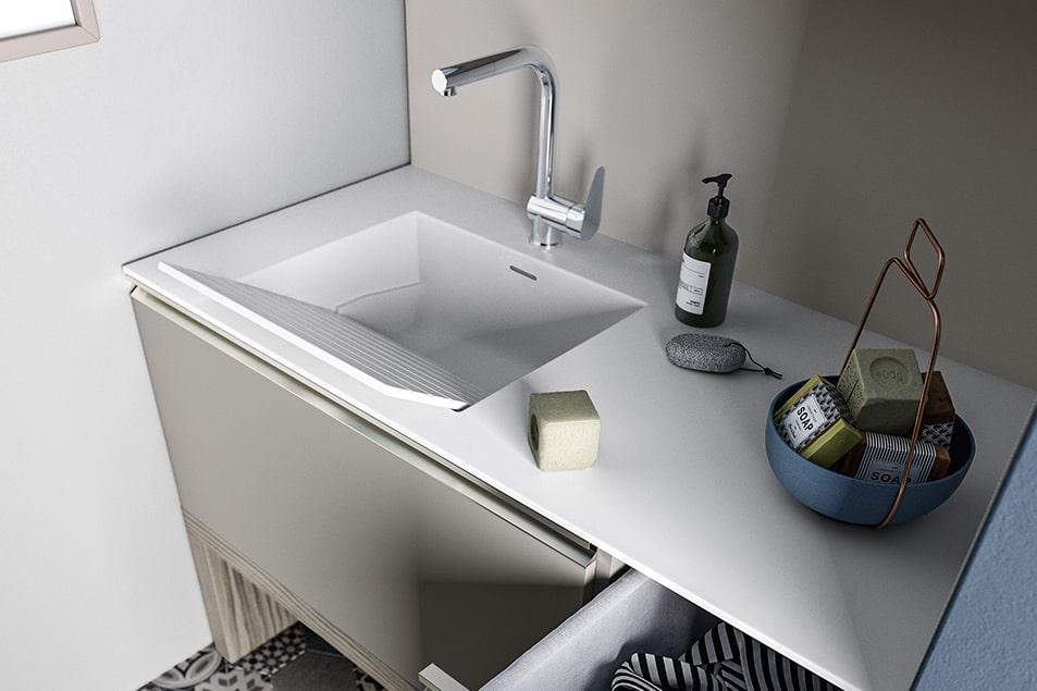Regola, lavabo pensato per la zona lavanderia