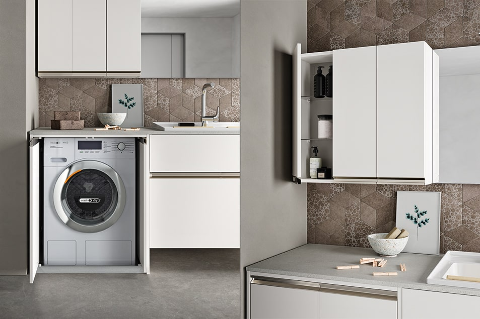 Regola, arredamento pensato per la zona lavanderia
