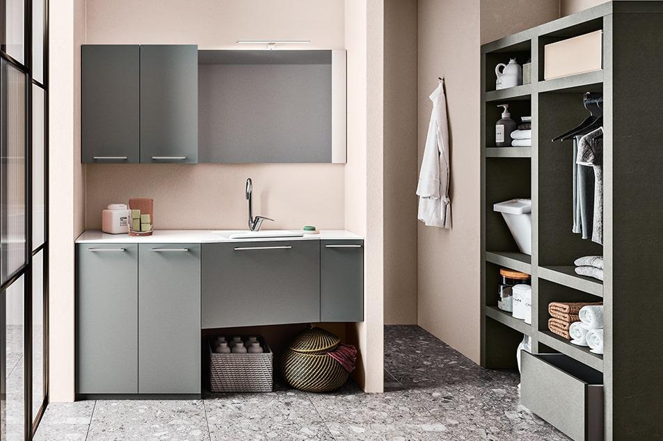 Regola, arredamento pensato per gli spazi della zona lavanderia