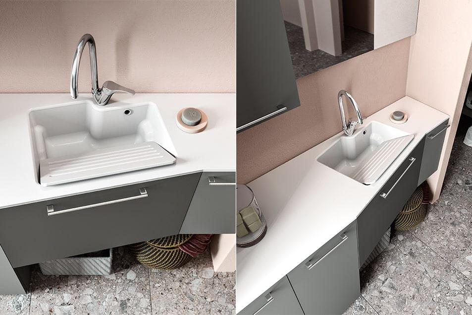 Regola, arredamento salvaspazio per la zona lavanderia