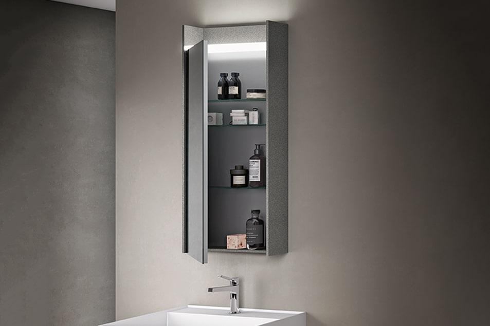 Specchio da bagno contenitore Ego