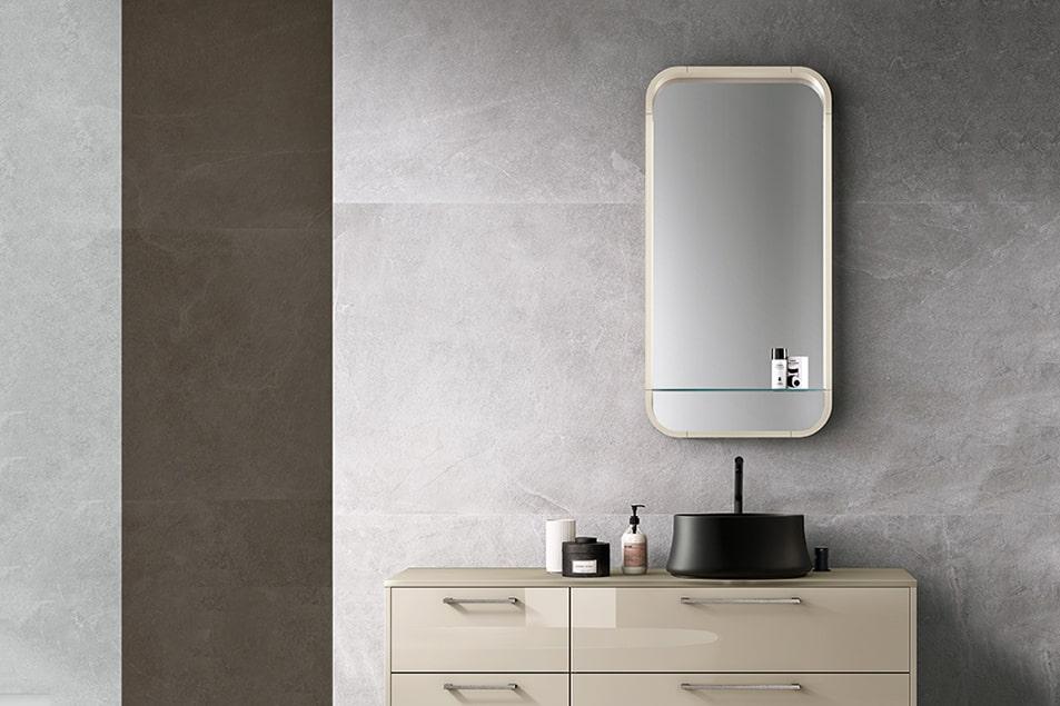 Specchio da bagno contenitore Apple