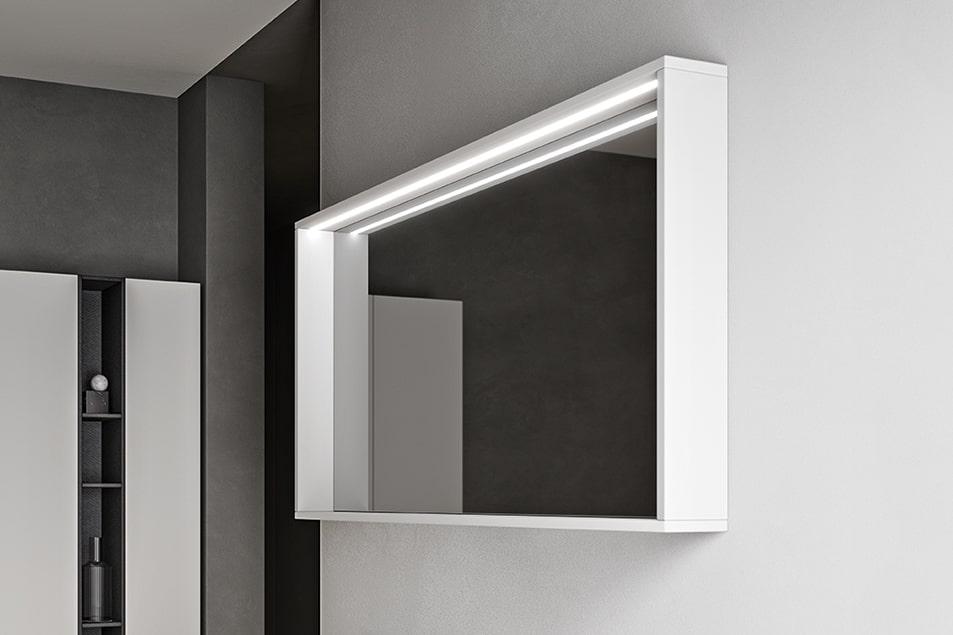 Specchio moderno da bagno contenitore linea Cubo