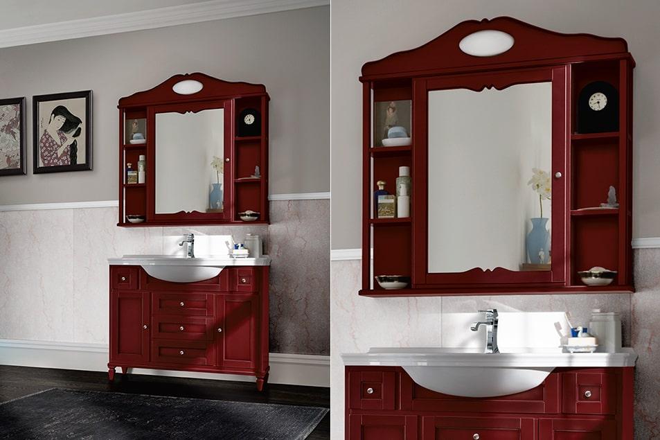 Specchio classico da bagno contenitore linea York