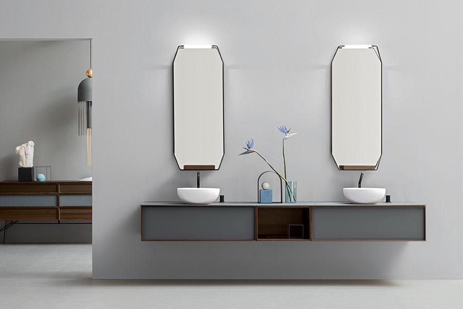 Specchio da bagno illuminato Des