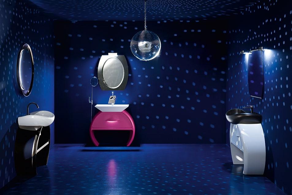 Abbinamenti con la base lavabo Moon, Cerasa arredo bagno