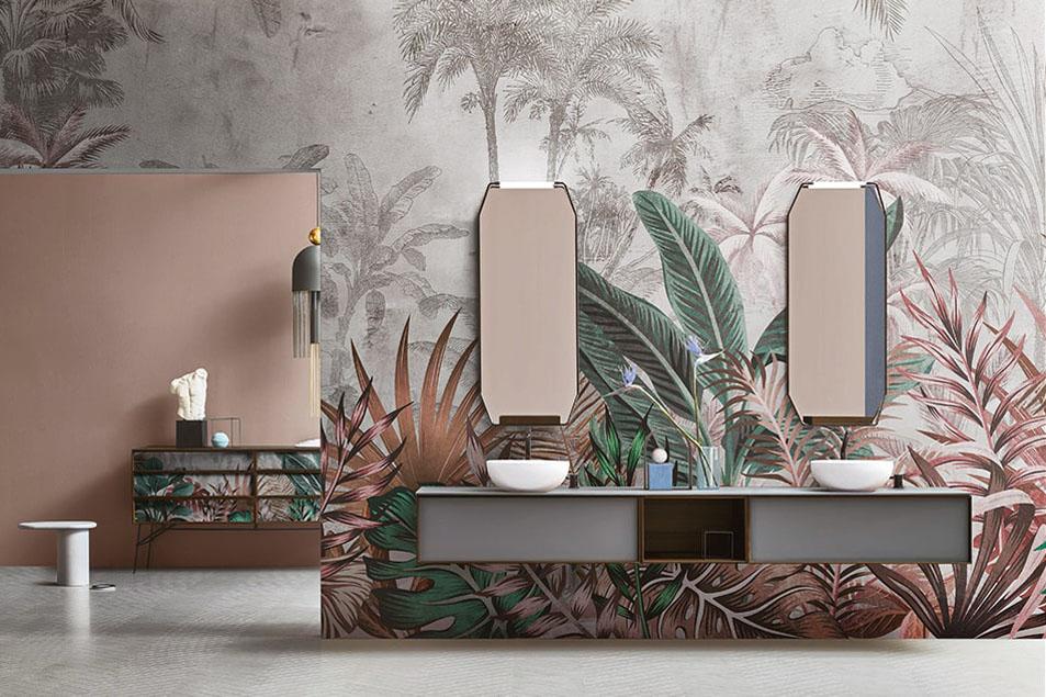 Rainforest Skinglass, varianti grafiche per le carte da parati