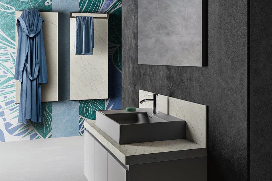 Termoarredo Frame di Cerasa, lo scaldasalviette personalizzabile da bagno con portasciugamano