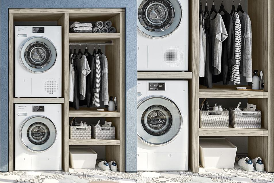 Regola, complemento arredo salvaspazio per lavanderia