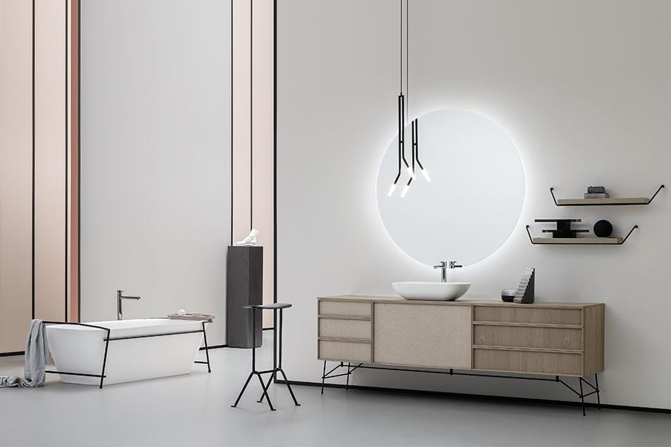 Linea Icone, arredo bagno elegante, trasversale e ricco di accessori