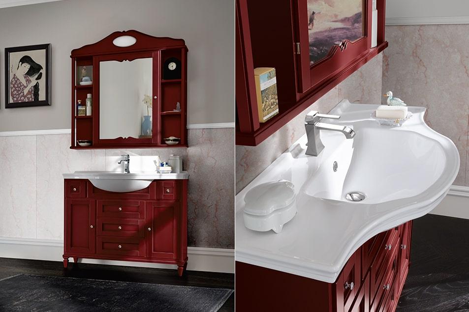 Lavabo consolle bagno classico, Cerasa Harmony