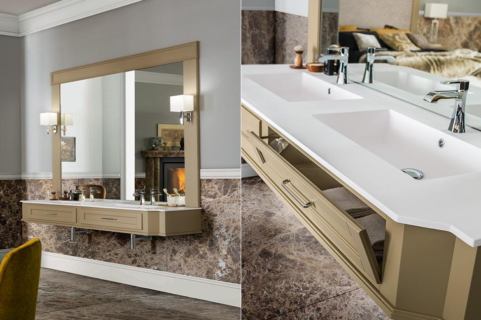 Lavabo consolle bagno sospesa, Cerasa Vanity