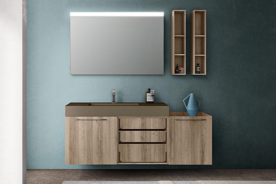 Linea di arredobagno Sistema, il mobile da bagno dal design raffinato