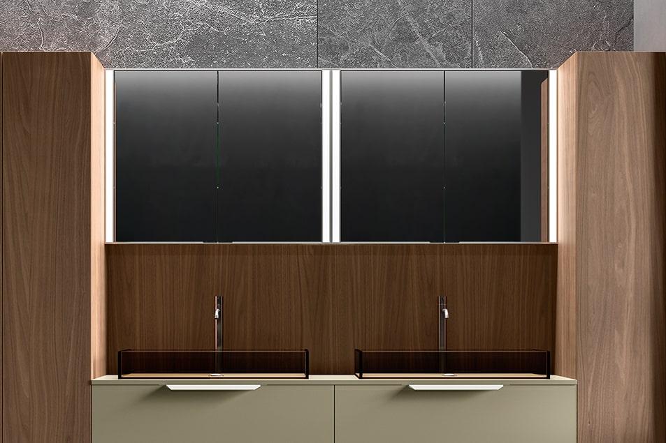 Specchio da bagno contenitore linea Club 2