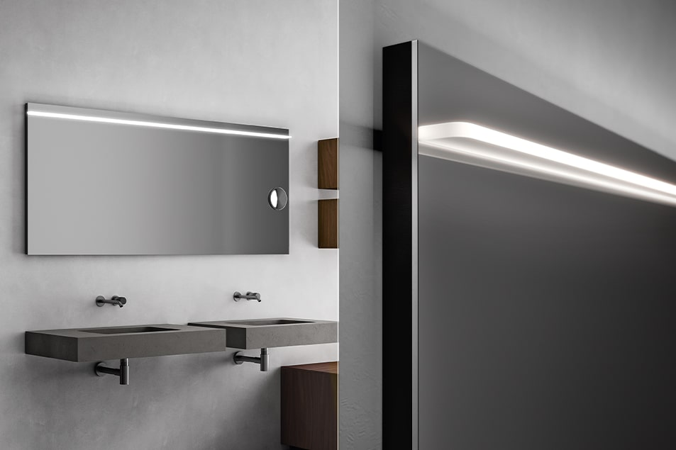 Specchio da bagno illuminato Class