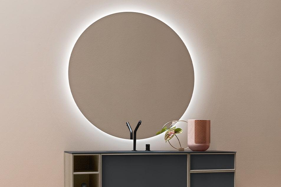 Specchio da bagno illuminato Tondo 2