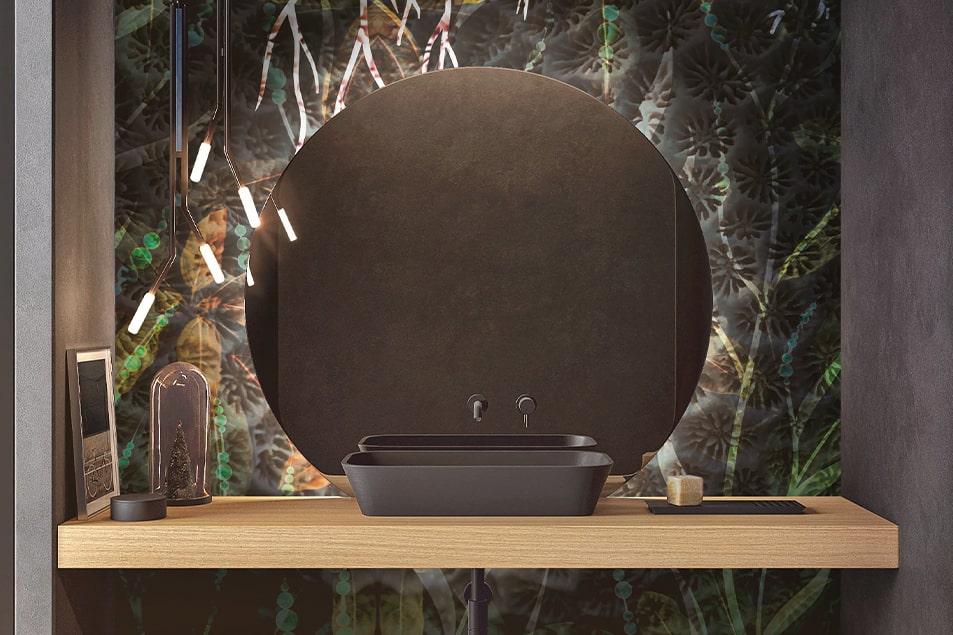 Specchio da bagno illuminato Tondo 3