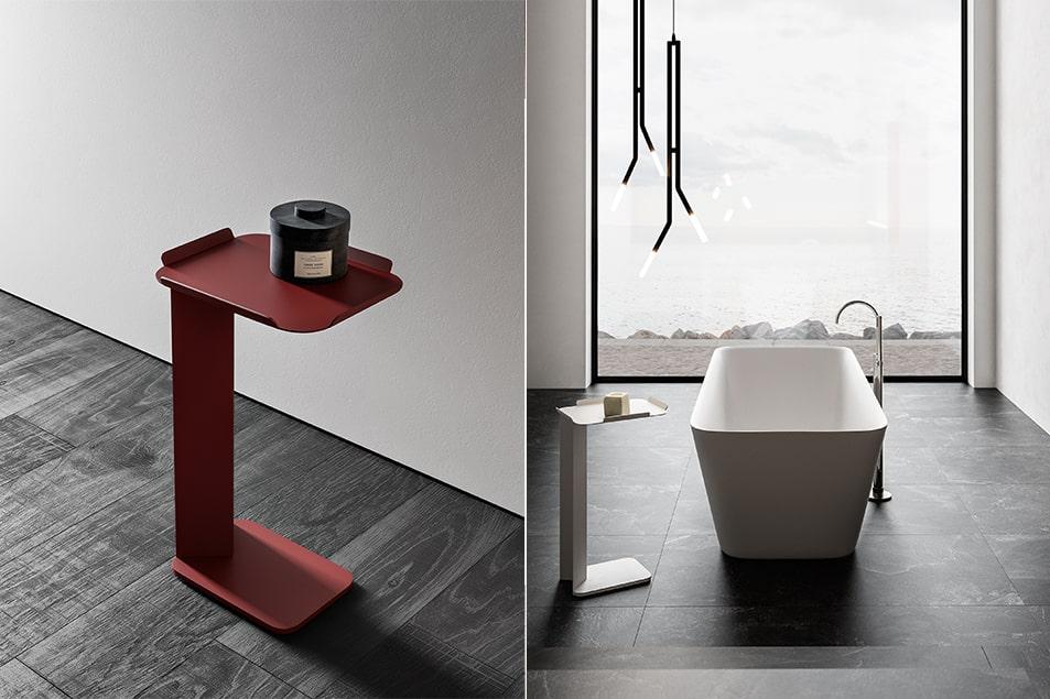 NeroLab, tavolino portaoggetti per vasca da bagno