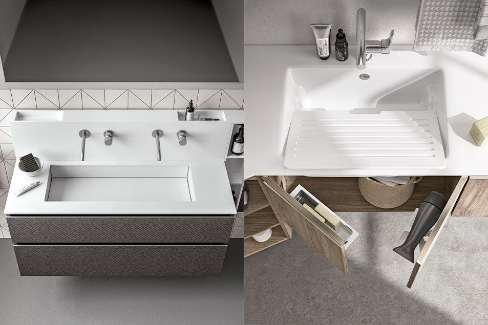 lavabo e lavatoio, in Ocritec dal design esclusivo per bagno o lavanderia