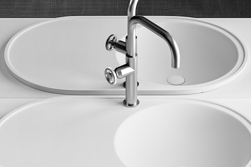 Miscelatore per lavabo bagno Cerasa Industrial 1