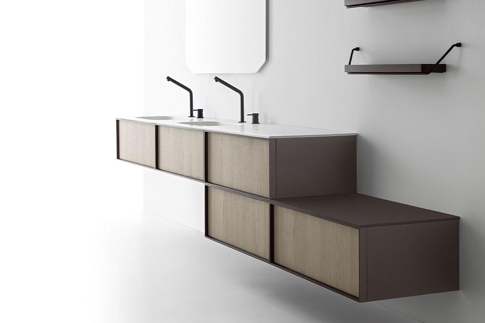 Doppio lavabo, l'arredobagno raddoppia gli spazi, idee e soluzioni DES Cerasa