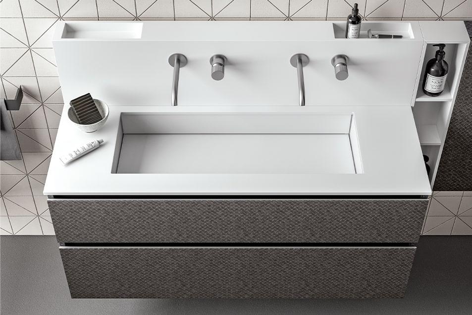 Doppio lavabo, l'arredobagno raddoppia gli spazi, idee e soluzioni Cerasa